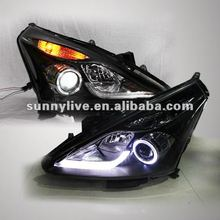For NISSAN Tiida for Nissan Pulsar C12 LED Head Lamp Angel Eyes 2011to 2012 year