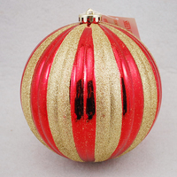 Hot sale large red golden outdoor christmas balls for decoration