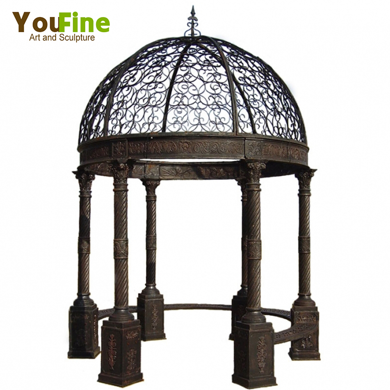 Hot Sale Chinese Garden Wrought Iron Gazebo