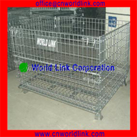 1000kgs Stackable Wire Mesh Collapsible Pallet Metal Box