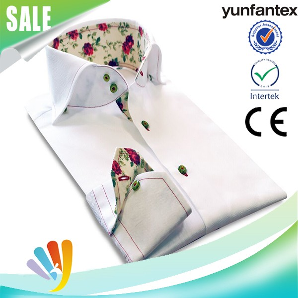 2017 yunfantex OEM & ODM service fashion high quality men's casual shirt