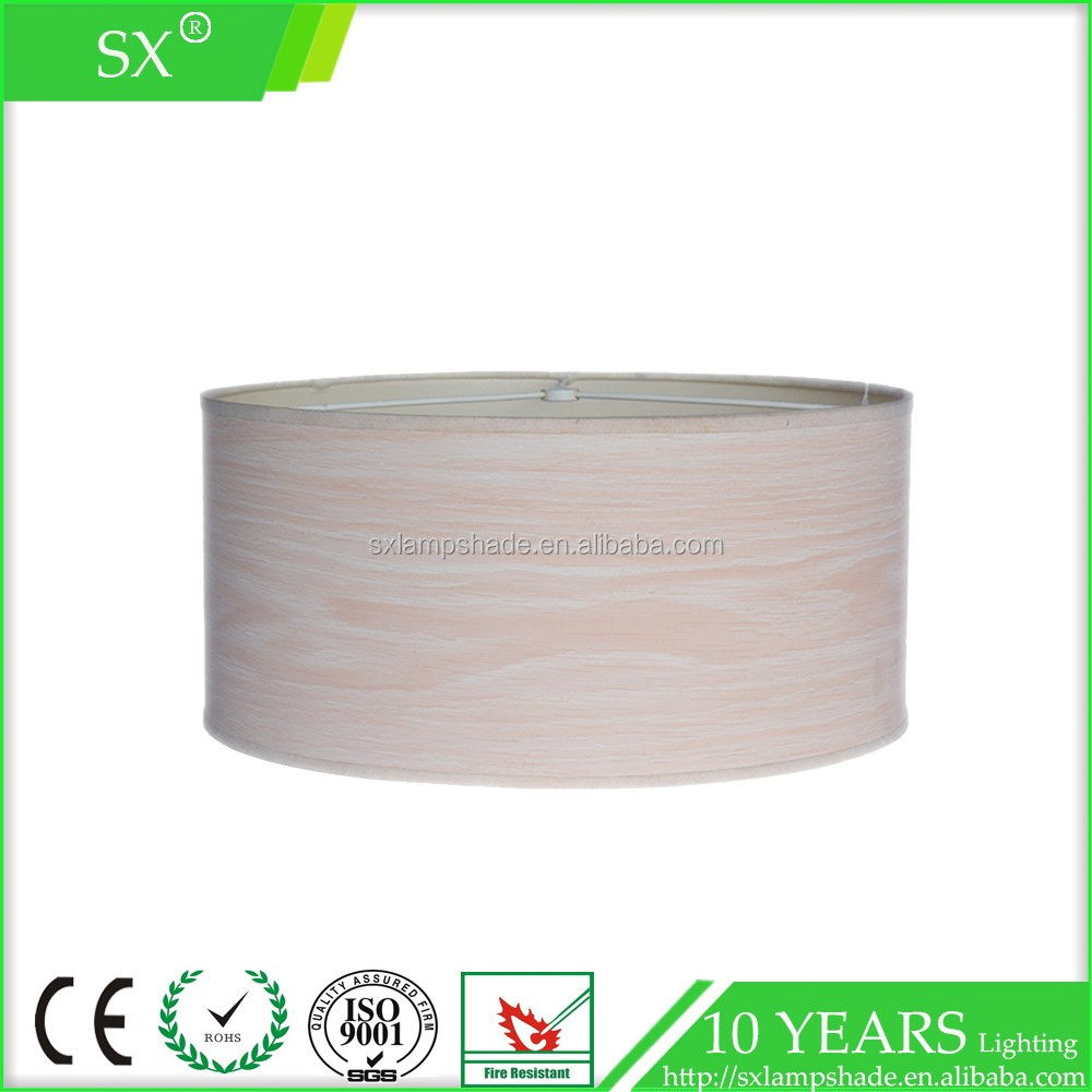 wholesale cheap plastic nature glass base faux wood rice paper lamp cover