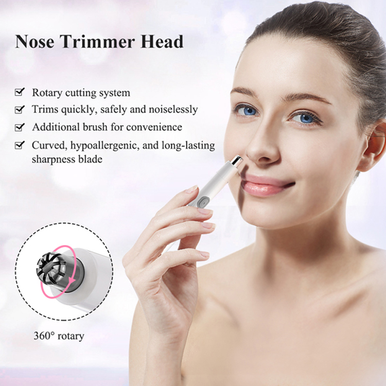 TOUCHBeauty New Arrival 2 in 1 Water Resistant Nose Trimmer for Men and Women