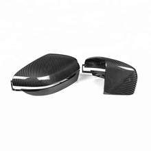 TOP PU Protect Carbon Mirror Caps Replacement OEM Fitment Side Mirror Cover for BMW 5 6 7 Series G30 G11 G12 2017 up LHD