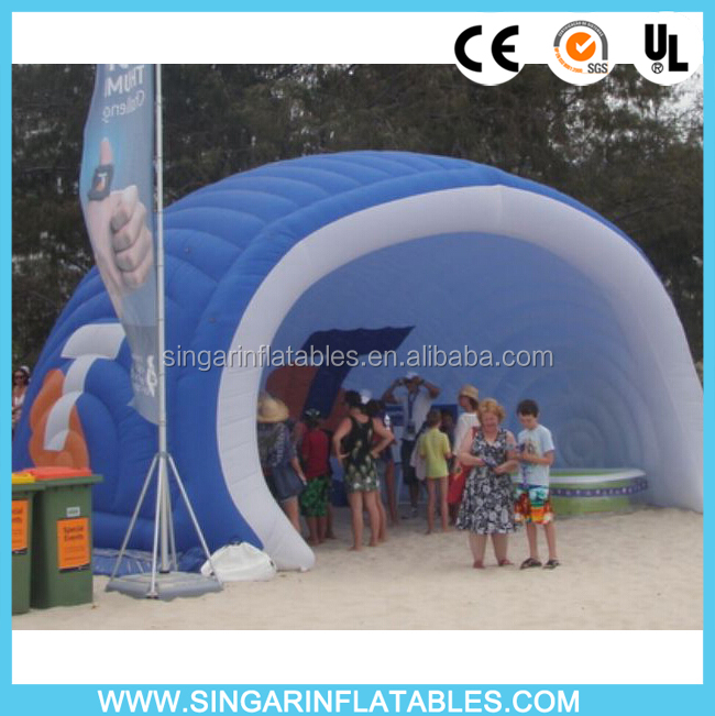 Outdoor event air shell dome,inflatable shell tent