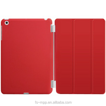 2015 Ultra Thin Magnetic red Smart Case Cover + Back Case For iPad mini