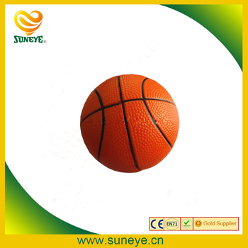 mini pu basketball stress ball