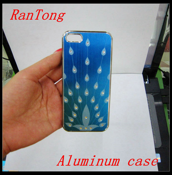 peacock designer cell phone cases wholesale For iphone 5 Aluminum case