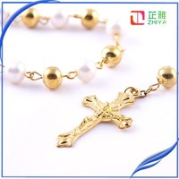 catholic gold jewelry rosary necklace