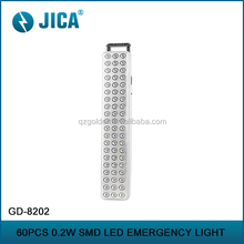 Wholesale plastic dc output led rechargeable emergeny lamp light