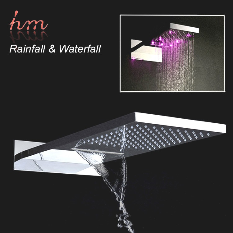 led electric shower head high flow recessed rain spa shower head HM-BD012-1
