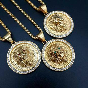 medallion necklace jewelry wholesale hippie lion head necklace jewelry