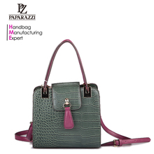 3534 Italy style crocodile leather fashion ladies handbags for wholesale