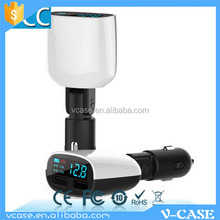 High Quality mini Universal Dual USB double Port 5V 2.1A Car Charger for Mobile Phone / Pad / Mp3 / Mp4