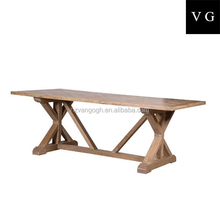 Latest Solid Oak Double Layers Wooden dining Table With Drawers