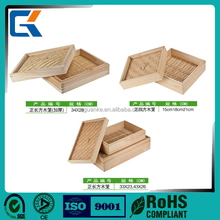 High quality food safe square bamboo steamer