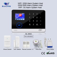 WIFI alarm system smart sockets remote control lamp switch 3G GSM alarm system