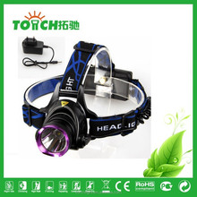 super Waterproof Headlamp 2000LM 3 mode XM-L T6 focus LED Headlight Head Torch Lamp Flashlight by 2x 18650 Batteries+AC charger