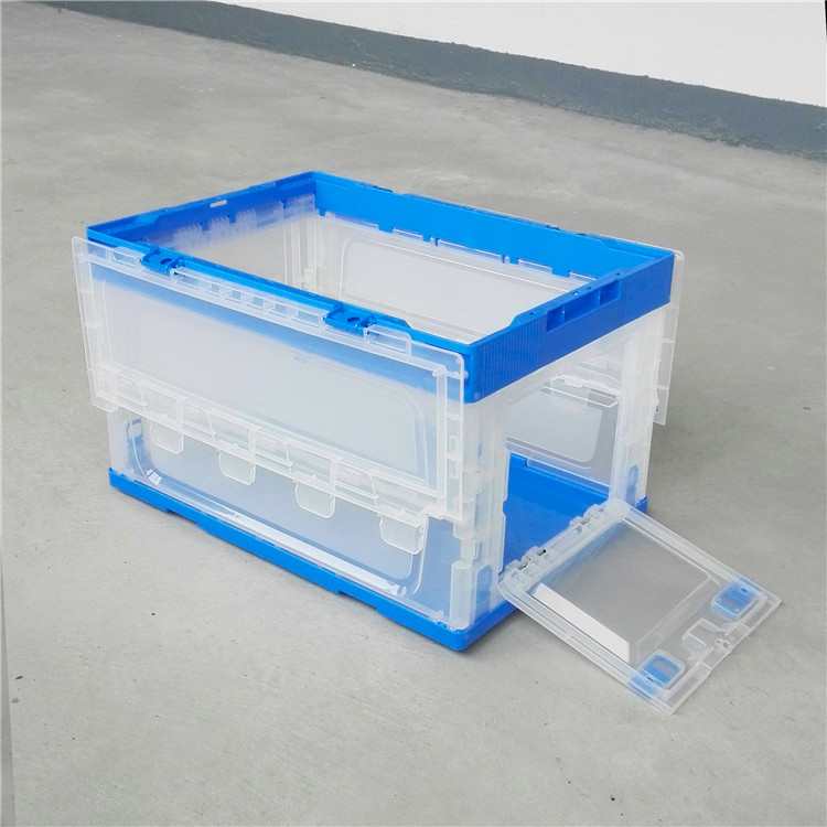 Hot selling large rectangular clear foldable plastic box