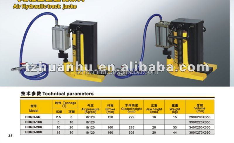 Air Hydraulic track jacks, HHQD-5Q,10Q, 20Q, 30Q, small lifting jacks, power tools, hydraulic press