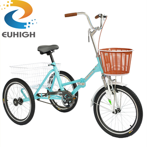 Bicycle folded adult tricycle