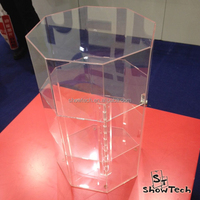 Floor standing 3 tiers jewelry or decoration pieces transparent display ST-SC-C-02