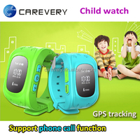 GPS child locator watch cell phone with sos, children smart design watch phone locator watch