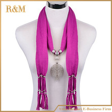Infinity Jersey Fringe Scarf 2017 newest Plain Necklace Scarf Lady Tassel fashion Scarves