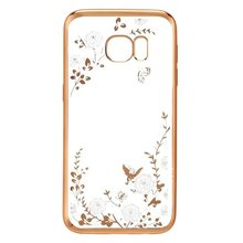 Clear TPU Plating Series Cover for Samsung S7 Secret Garde Diamante Case