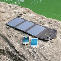 5V 12W Dual Output 5V Cell Phone Portable Foldable Solar Charger Power Bag External Outdoor Battery Panel