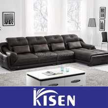 Modern sectional black leather sofa contemporary couch