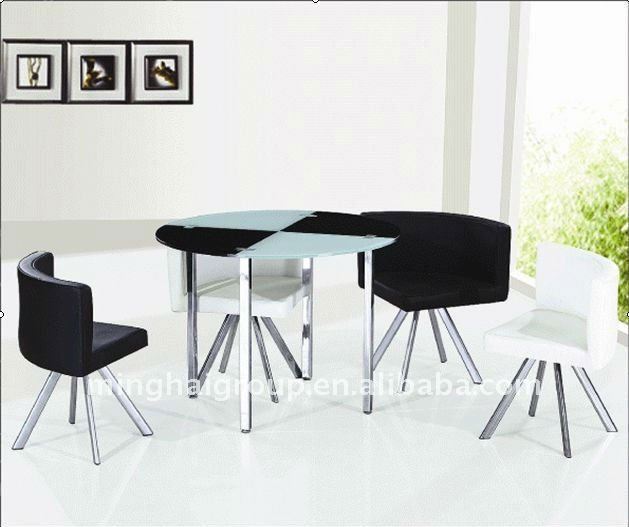 4 Seaters Glass Dining Table Sets MDT-332