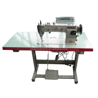 Electronic heavy duty top and bottom feed lock stitch sewing machine