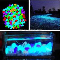 Glow in The Dark Plastic Stones pebbles Rock Decoration For FISH TANK AQUARIUM