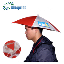 China suppliers cap umbrella hat custom logo print head umbrella