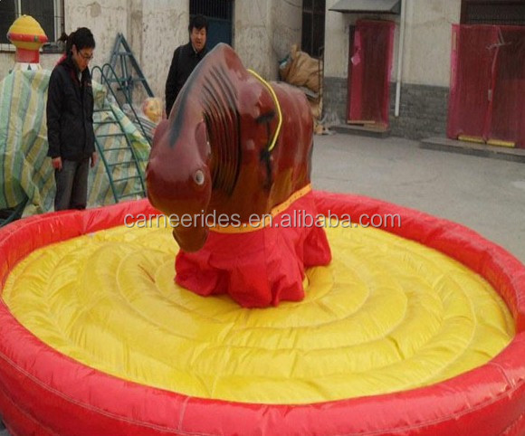 Crazy inflatable rodeo bull rides for sale