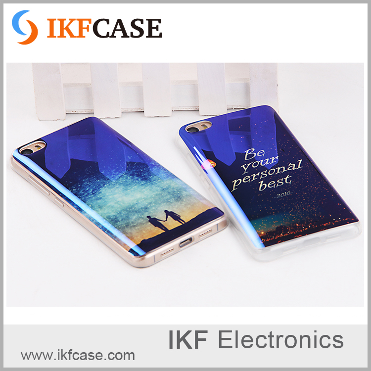 Fashionable blue ray light color and multi pattern tpu plated phone case for Samsung Galaxy S5 S4 S3 S2