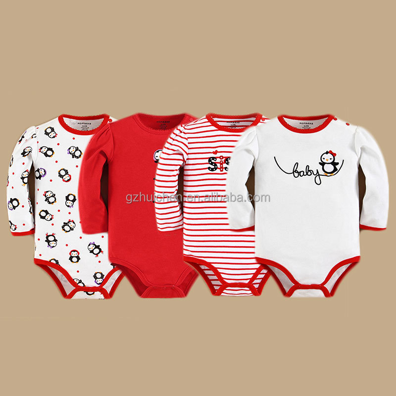 momandbab 2015 Wholesale Baby Romper Box Embroidery Latest Fall Design