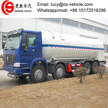 HOWO 8X4 Aluminium Alloy Chemical Tanker Truck 29600 liters 30000 liters Chemical Liquid Tank Truck for sale