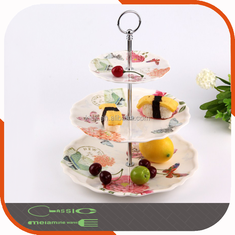 Colorful Melamine 3 Tier Cake Slate Stand SGS