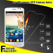 2.5D 0.26mm 9h tempered glass screen protector for Micromax A77 mobile phone accessories