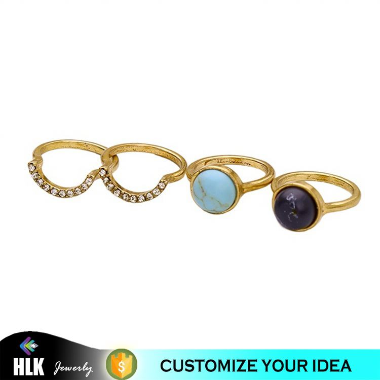 Latest gold ring designs, <strong>black</strong> and turquoise stone ring set