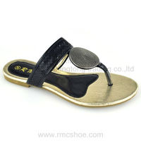 RMC stylish ornement ladies sandals pu sole design