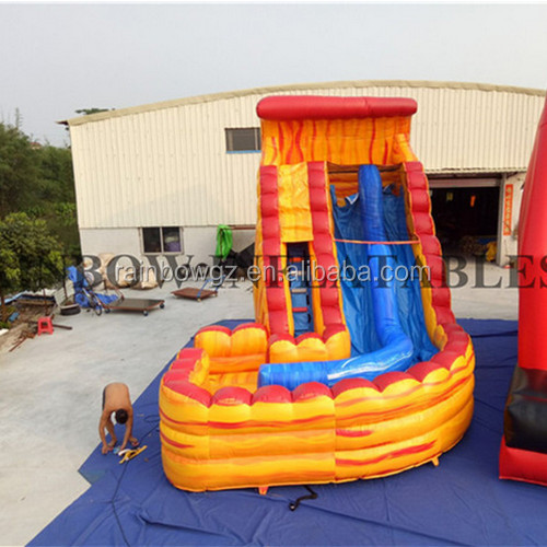 commercial grade winding Inflatable water slide
