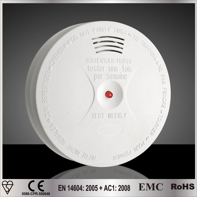 Hot Sale Built-in 10 years Lithium Battery Powered Mini Smoke Alarm VDS3131 PENDING Comply UL NF292 requirements