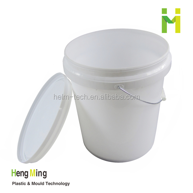 20L Round Plastic Packing bucket with metal handle