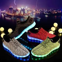 High Quality Unisex Led Yezy Flashing Light Up Shoes For Men And Women