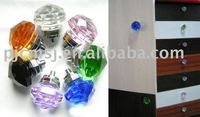 2015 hot sale Cheap colorful crystal furniture handle,crystal door handles,crystal door knobs customize size and shape