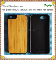 Promotion!! For Iphone 6 6S Wood Wooden Skin Soft Rubber TPU PC Back Cover phone Case Factory wholesale for iphone 6
