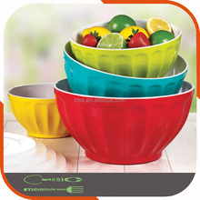 Non-toxic melamine salad bowl set plastic mixing bowl set large plate bowl